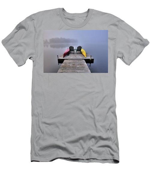 Men's T-Shirt (Athletic Fit) featuring the photograph Fog On West Lake by David Patterson