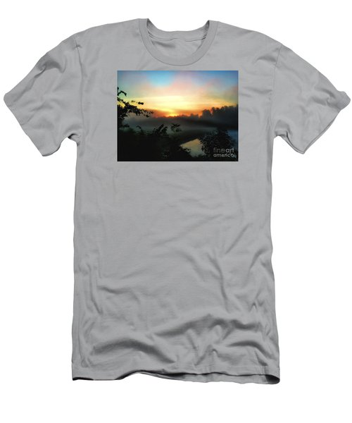 Foggy Edges Sunrise Men's T-Shirt (Slim Fit) by Craig Walters