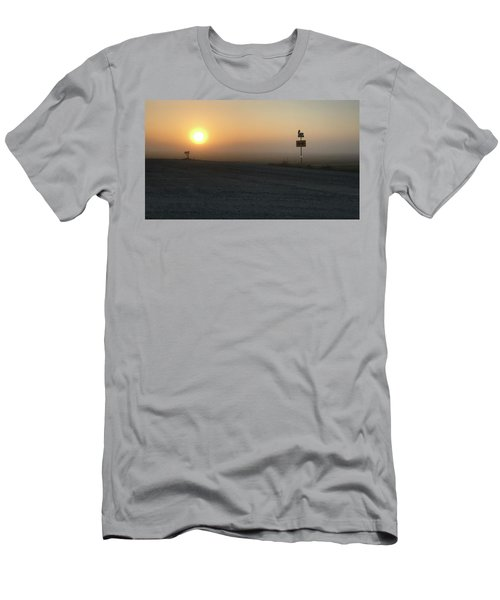 Men's T-Shirt (Slim Fit) featuring the photograph Foggy Hawkeye Sunrise  by Jame Hayes