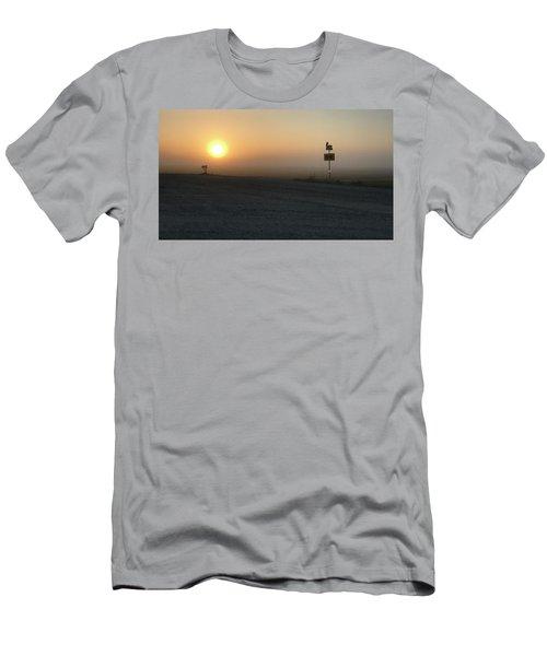 Foggy Hawkeye Sunrise  Men's T-Shirt (Athletic Fit)