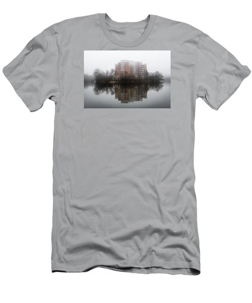 Foggy Reflection Men's T-Shirt (Slim Fit) by Celso Bressan