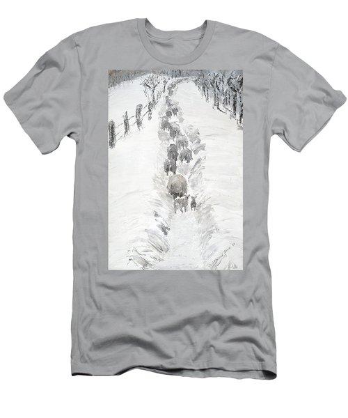 Follow The Flock Men's T-Shirt (Athletic Fit)