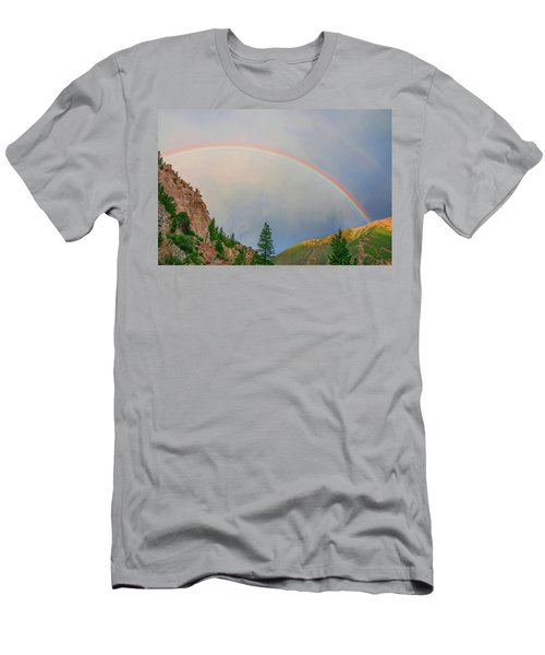 Follow The Rainbow To The Majestic Rockies Of Colorado.  Men's T-Shirt (Slim Fit) by Bijan Pirnia