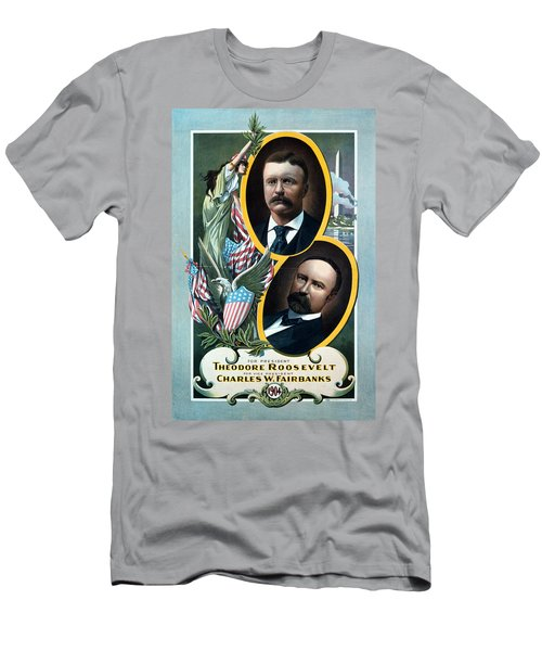 For President - Theodore Roosevelt And For Vice President - Charles W Fairbanks Men's T-Shirt (Athletic Fit)
