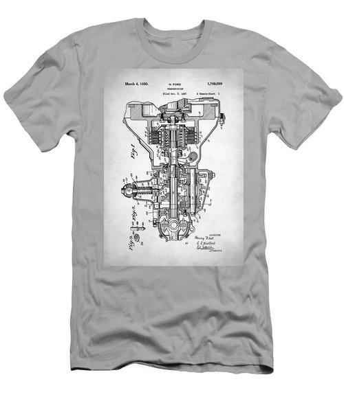 Men's T-Shirt (Slim Fit) featuring the digital art Ford Engine Patent by Taylan Apukovska
