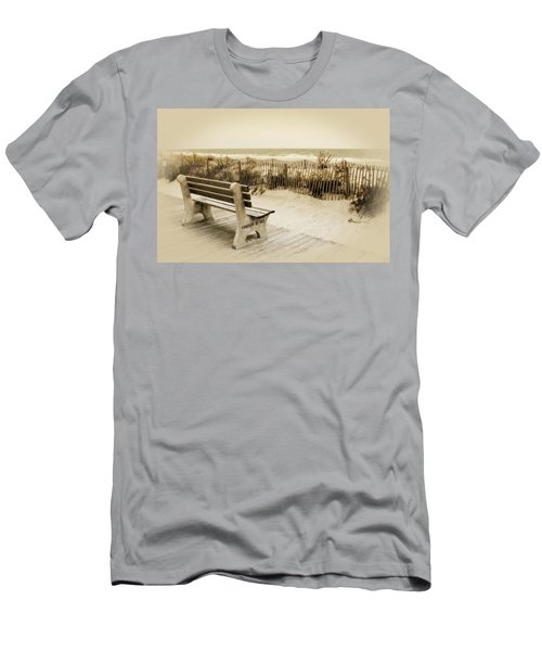 Men's T-Shirt (Athletic Fit) featuring the photograph Forever At Sea - Jersey Shore by Angie Tirado