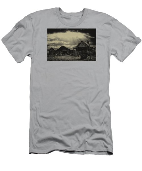 Men's T-Shirt (Slim Fit) featuring the photograph Forgotten Years by B Wayne Mullins