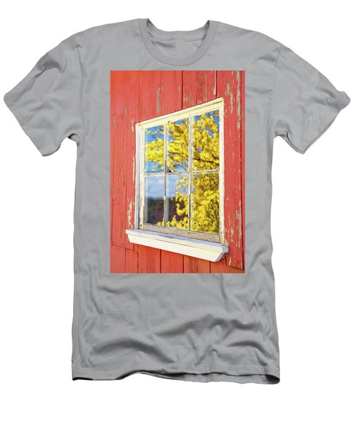 Men's T-Shirt (Athletic Fit) featuring the photograph Forsythia Reflection 1 by Brian Hale