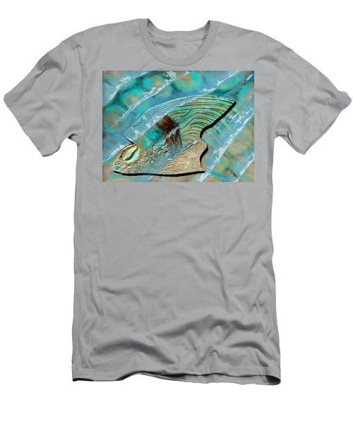 Men's T-Shirt (Slim Fit) featuring the painting Fossil On The Shore by Suzanne McKee