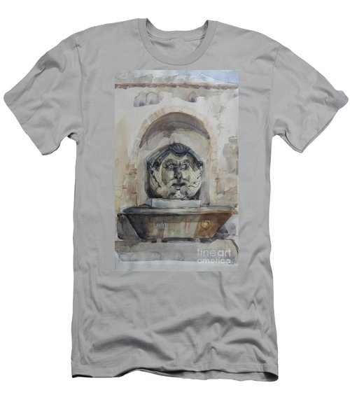 Fountain In Rome Men's T-Shirt (Athletic Fit)