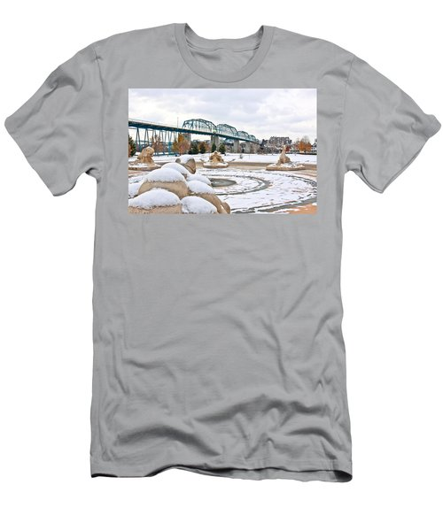 Fountain In Winter Men's T-Shirt (Athletic Fit)