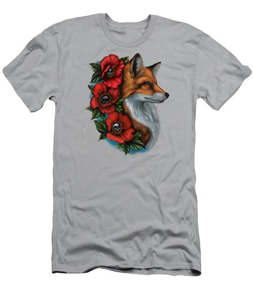 Fox And Poppies Men's T-Shirt (Athletic Fit)
