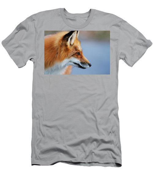 Fox Profile Men's T-Shirt (Slim Fit) by Mircea Costina Photography