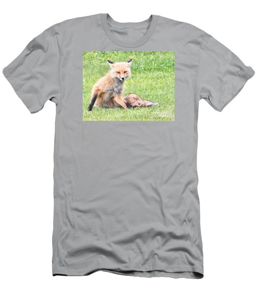 Men's T-Shirt (Slim Fit) featuring the photograph Foxy by Debbie Stahre