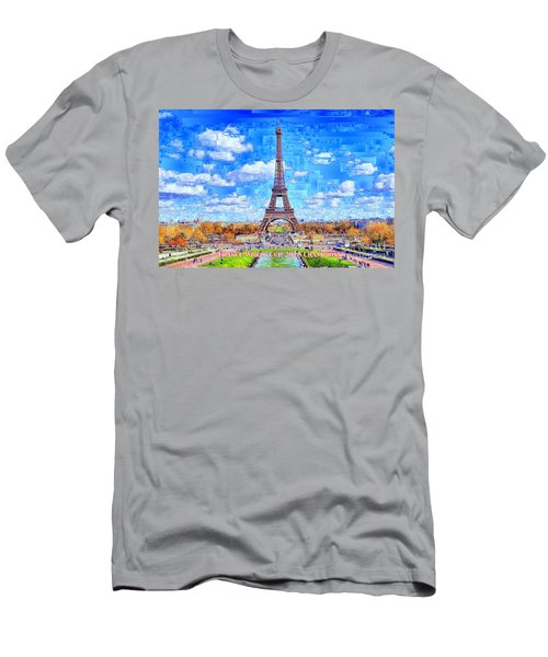 Men's T-Shirt (Athletic Fit) featuring the digital art France - Russia World Cup Champions 2018 by Rafael Salazar