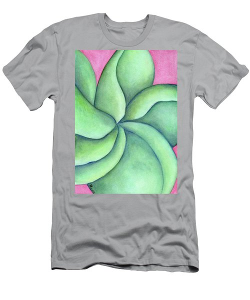 Frangipani Green Men's T-Shirt (Slim Fit) by Versel Reid