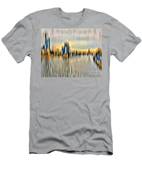 Frankfurt - Golden Sunset Abstract Men's T-Shirt (Athletic Fit)