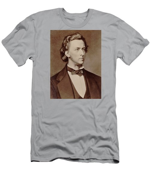 Frederic Chopin Men's T-Shirt (Slim Fit) by Tilen Hrovatic