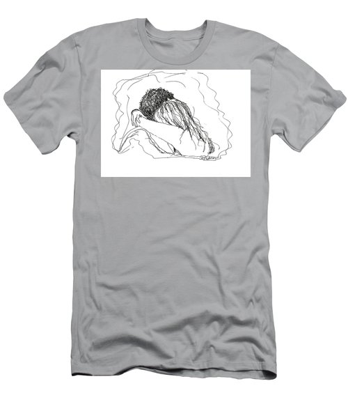 Men's T-Shirt (Athletic Fit) featuring the drawing Free Hugs Bw by Denise Fulmer