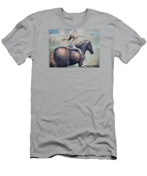 Freedom Men's T-Shirt (Slim Fit) by Vali Irina Ciobanu