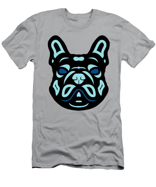 French Bulldog Francis - Dog Design - Hazelnut, Island Paradise, Lapis Blue Men's T-Shirt (Athletic Fit)
