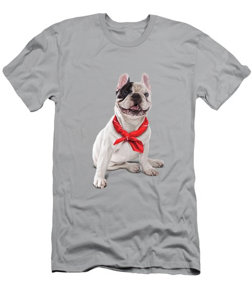 Men's T-Shirt (Athletic Fit) featuring the digital art Frenchie Colour by Rob Snow