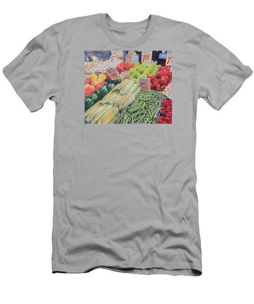 Fresh Green Beans Men's T-Shirt (Slim Fit) by Constance DRESCHER