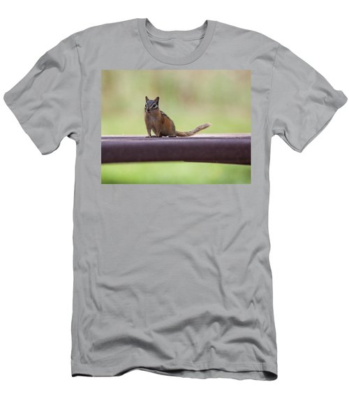 Men's T-Shirt (Athletic Fit) featuring the photograph Friendly Chipmunk by Fran Riley