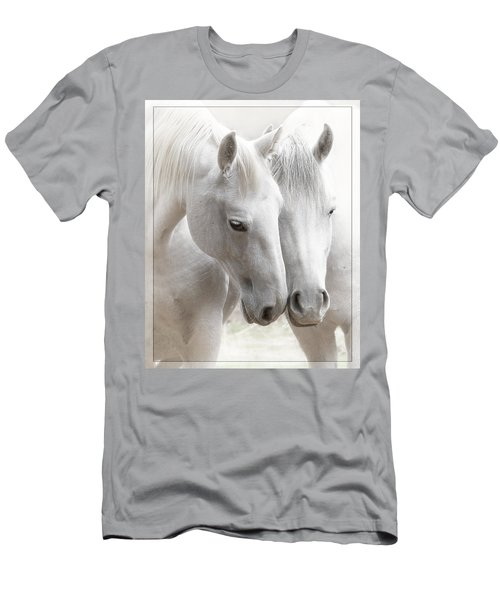 Men's T-Shirt (Slim Fit) featuring the photograph Friends D2573 by Wes and Dotty Weber