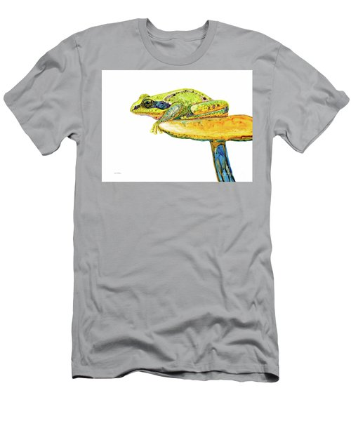 Frog Sitting On A Toad-stool Men's T-Shirt (Athletic Fit)