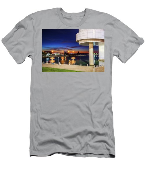 Men's T-Shirt (Slim Fit) featuring the photograph From The Rock Hall by Brent Durken