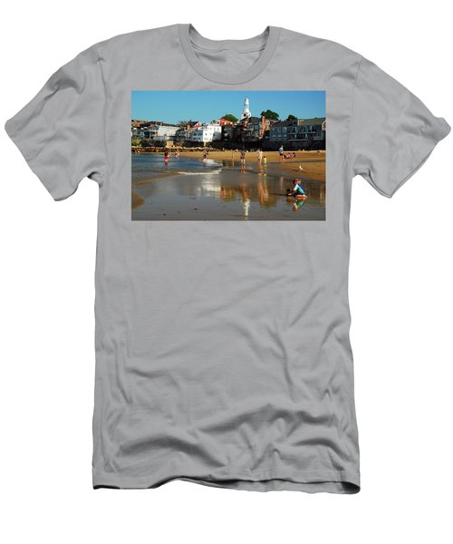 Front Beach Men's T-Shirt (Slim Fit) by James Kirkikis