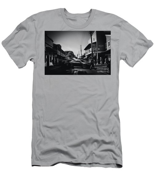 Men's T-Shirt (Slim Fit) featuring the photograph Front Street  by Sharon Mau