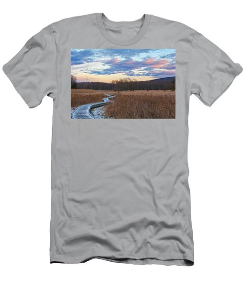 Frosty Blue Trail Men's T-Shirt (Slim Fit) by Angelo Marcialis