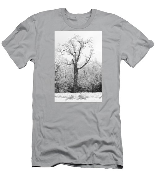 Men's T-Shirt (Athletic Fit) featuring the photograph Frosty Old Tree by Ken Barrett