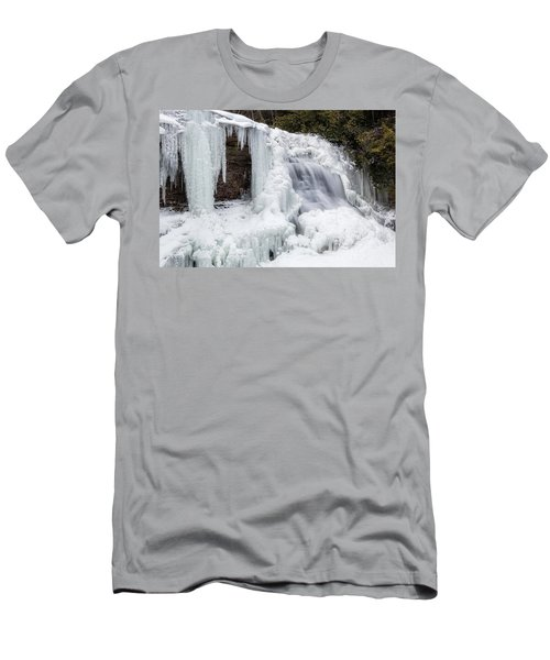 Frozen Waterfall Men's T-Shirt (Athletic Fit)