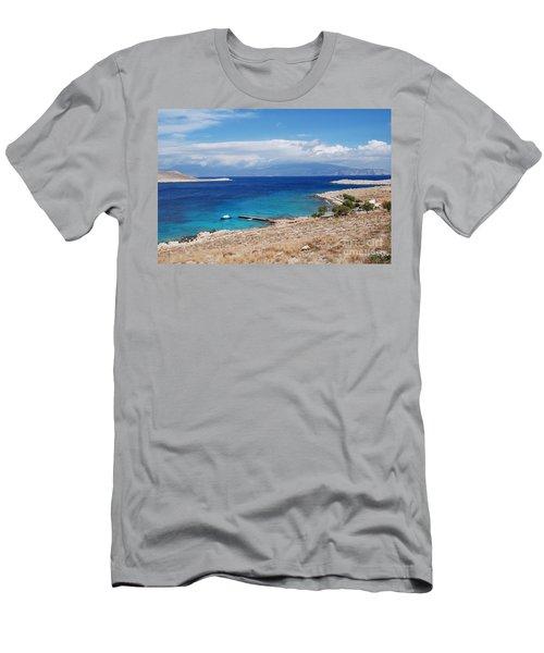 Ftenagia Beach On Halki Men's T-Shirt (Athletic Fit)