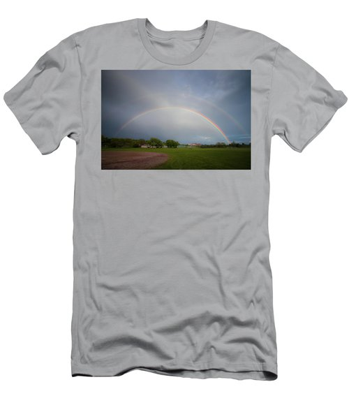 Full Double Rainbow Men's T-Shirt (Athletic Fit)