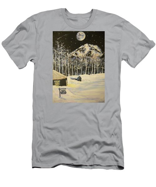 Full Moon At The Sundance Nordic Center Men's T-Shirt (Athletic Fit)