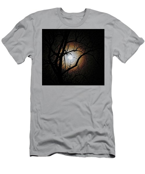 Full Moon Oil Painting Men's T-Shirt (Athletic Fit)
