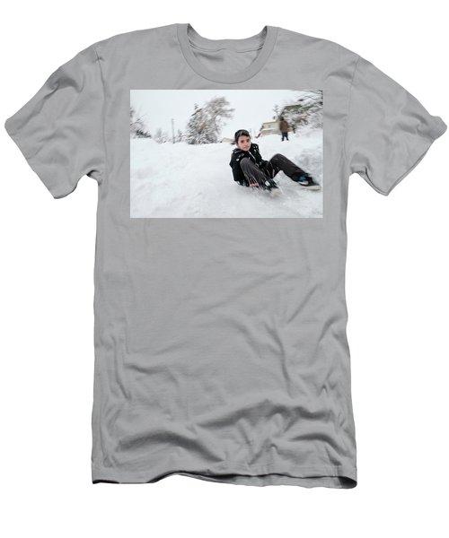 Fun On Snow-1 Men's T-Shirt (Athletic Fit)