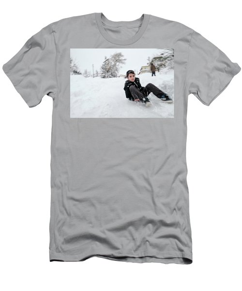 Fun On Snow-1 Men's T-Shirt (Athletic Fit)