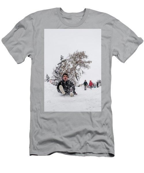Fun On Snow-2 Men's T-Shirt (Athletic Fit)