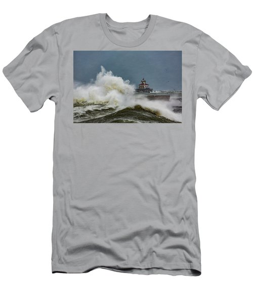 Men's T-Shirt (Slim Fit) featuring the photograph Fury On The Lake by Everet Regal