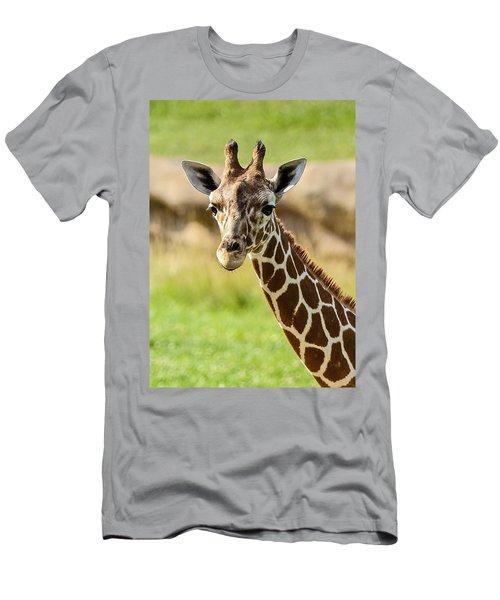 Men's T-Shirt (Slim Fit) featuring the photograph G Is For Giraffe by John Haldane