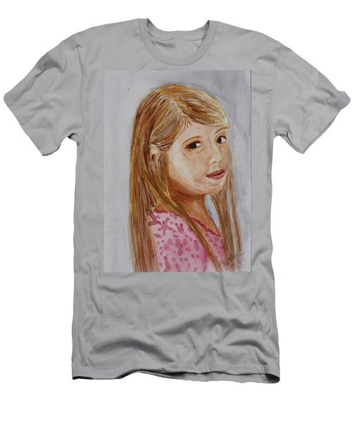 Men's T-Shirt (Slim Fit) featuring the painting Gabriella by Donna Walsh