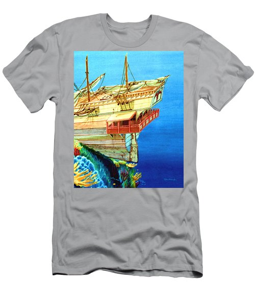 Galleon On The Reef 2 Filtered Men's T-Shirt (Athletic Fit)
