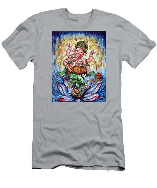 Ganesha Dancing And Playing Mridang Men's T-Shirt (Athletic Fit)