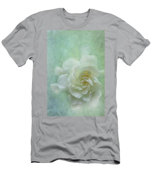 Gardenia Men's T-Shirt (Slim Fit) by Catherine Alfidi