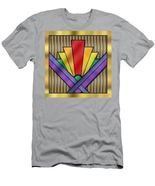 Rainbow Art Deco Men's T-Shirt (Athletic Fit)